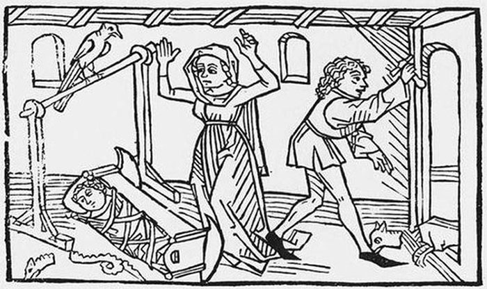 Легенда о святом Гинефорте. Ксилография XV века.