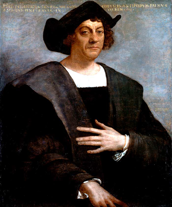 Портрет Христофора Колумба, 1519 год.