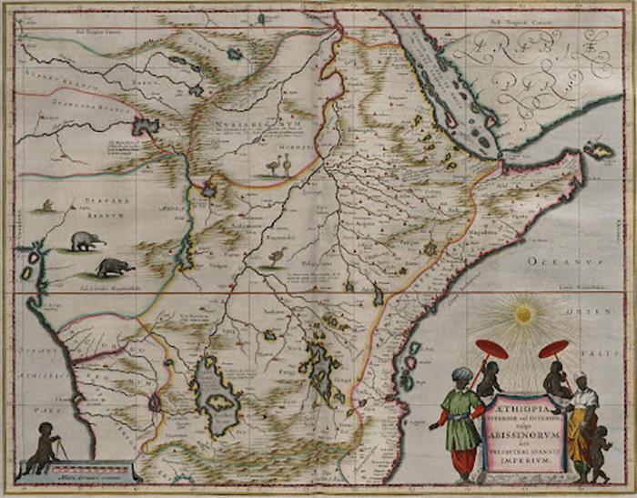 Древняя карта Эфиопского царства.