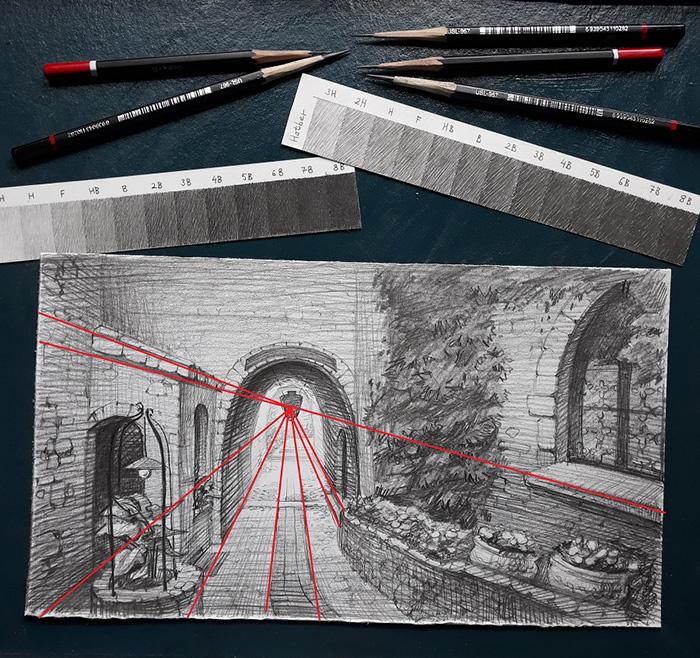 Геометрическая перспектива в искусстве.