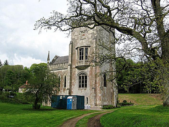 Руины аббатства Фонтхилл сегодня.
