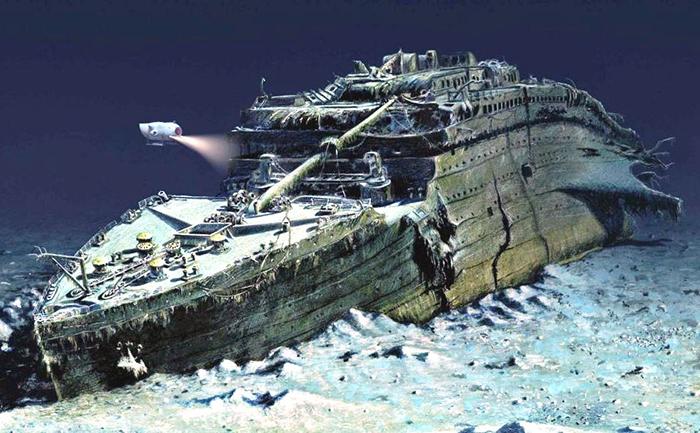 То, что осталось от «Титаника» сегодня.