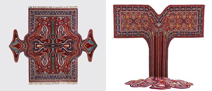 Художник превращает традиционные ковры в потрясающие произведения современного искусства.