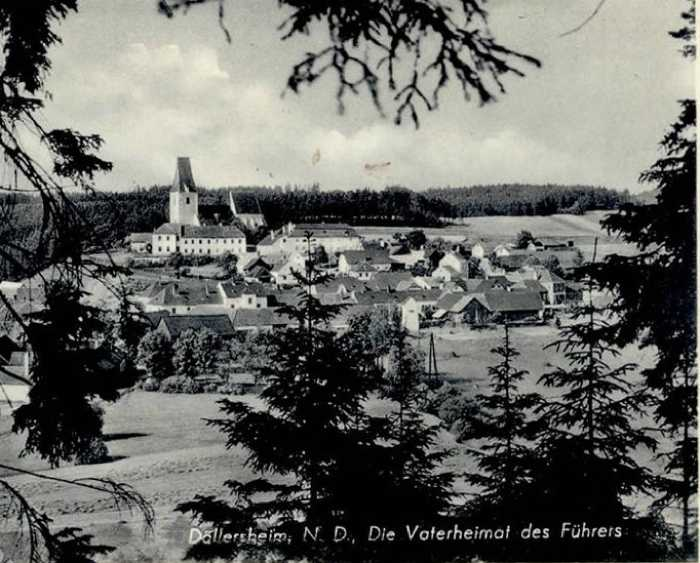 Открытка с фото деревни Дёллерсхайм, выпущенная до её уничтожения.