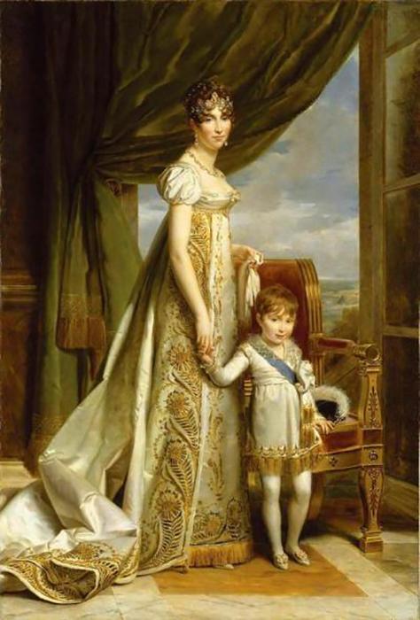 Будущий Наполеон III с матерью Гортензией Богарне.
