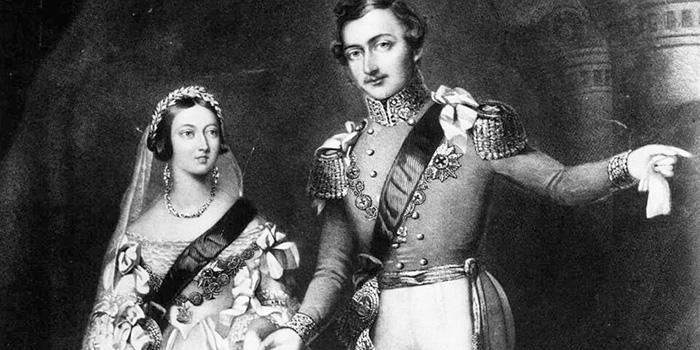 Свадьба королевы Виктории и принца Альберта.