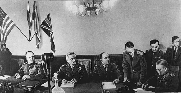 После того, как Сталин узнал о подписании акта капитуляции в Реймсе - он просто рассвирепел.