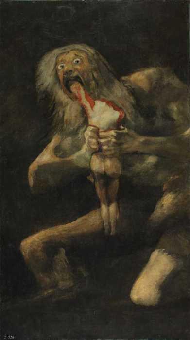 Сатурн, пожирающий сына, Франсиско Гойя.