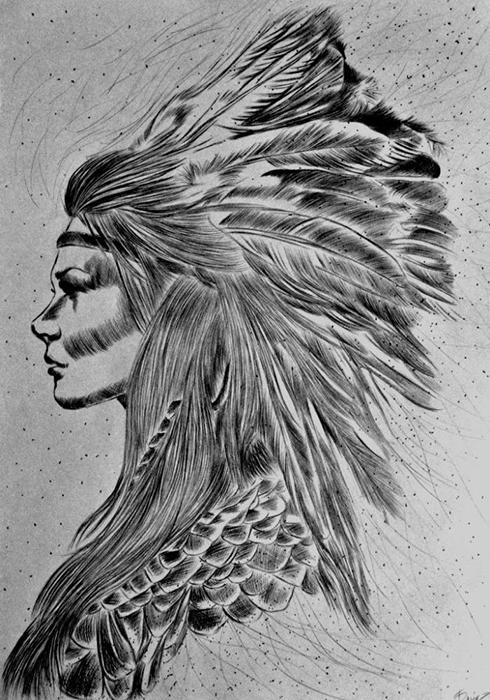 Изображение женщины-шамана.
