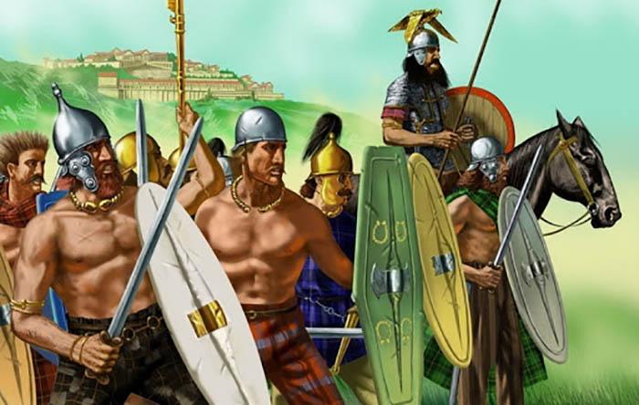 Кельтские воины украшали себя золотыми украшениями так, что их великолепие слепило глаза врагам.