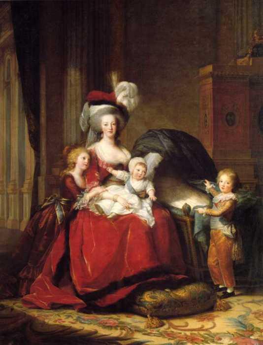 Мария-Антуанетта с детьми.