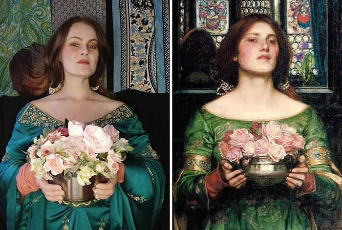Джон Уотерхаус. Душа розы или моя сладкая роза, 1908.
