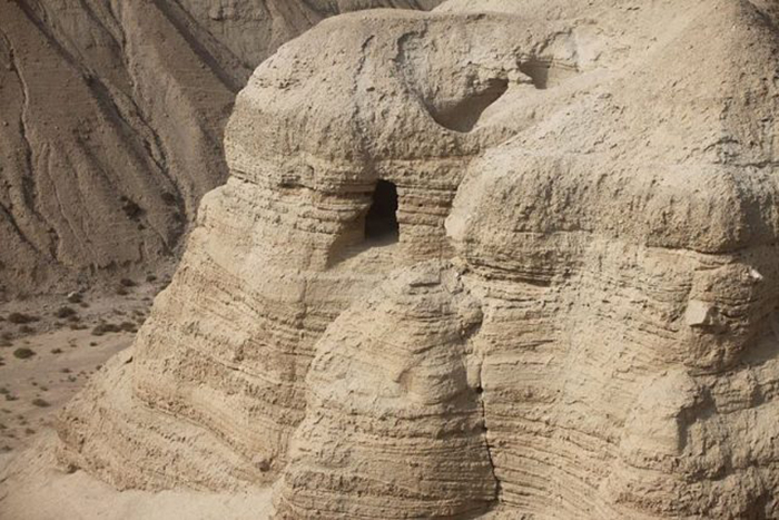 Пещера, где впервые были обнаружены свитки Мёртвого моря.
