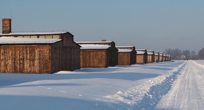 В таких бараках в ужасных условиях жили заключённые.