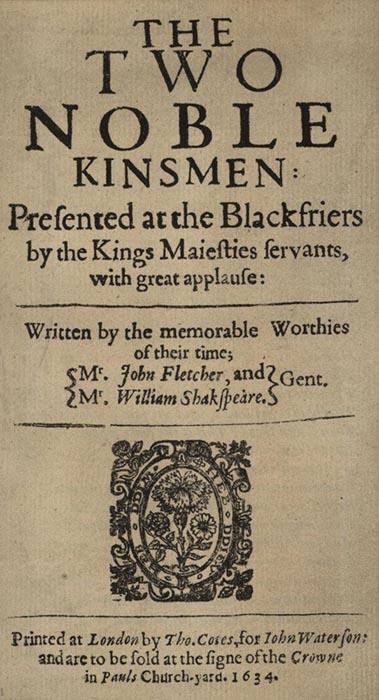 Одна из последних пьес Шекспира «Два благородных родственника».