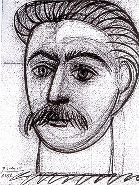 «Портрет Иосифа Сталина» Пабло Пикассо.