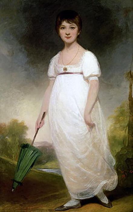 Портрет молодой Джейн Остин.