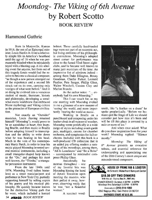 Книга Роберта Скотто о Moondog.