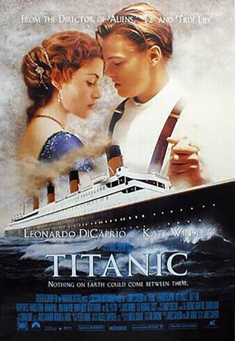 Помпезная голливудкая кинолента Джеймса Кэмерона об истории гибели «Титаника».