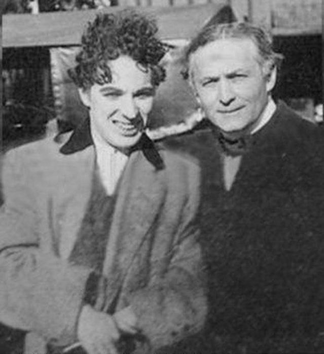 Великий Гудини и Великий Чарли Чаплин.