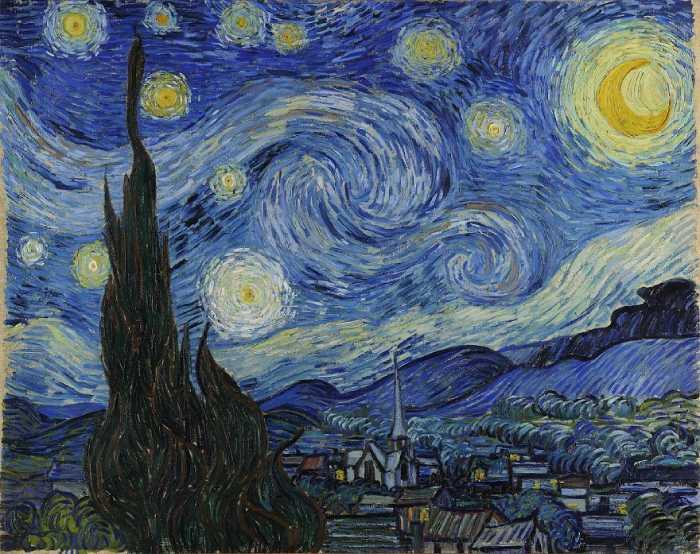 Звёздная ночь, Винсент Ван Гог.