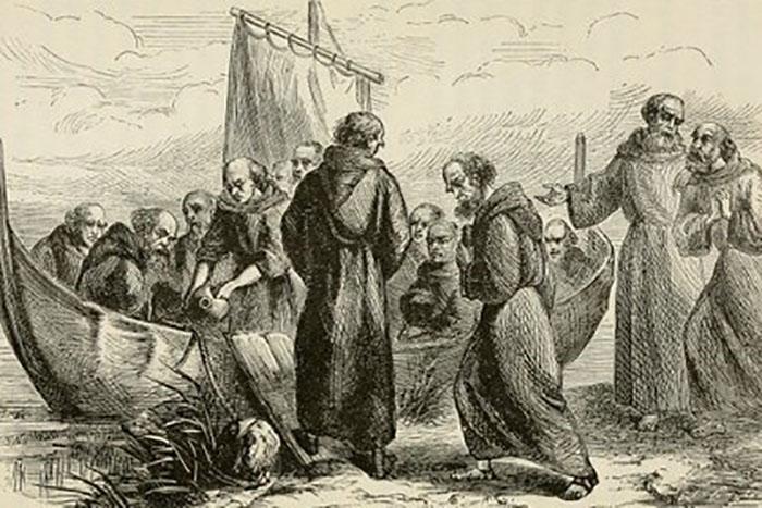 Иллюстрация путешествия святого Брендана.