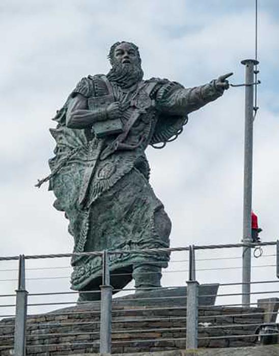 Памятник святому Брендану.