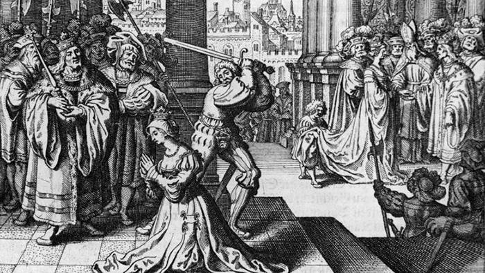 Казнь Анны Болейн, 15 мая 1536 года. Гравюра на меди. / Фото: Беттманн / thevintagenews.com