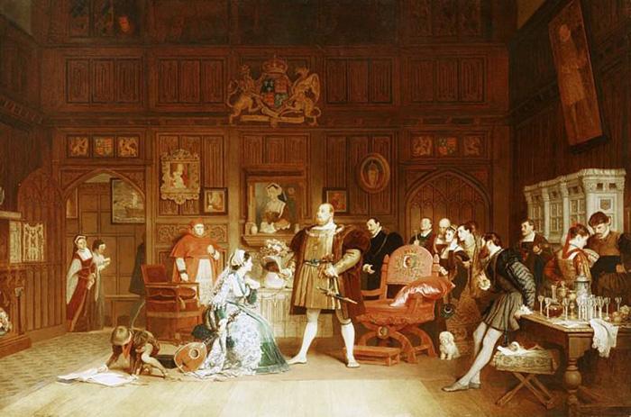Генрих VIII и Анна Болейн у королевы Екатерины. / Фото: gallerix.ru