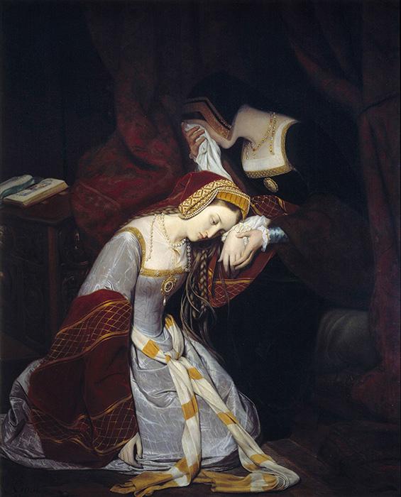 Анна Болейн в Башне, фрагмент, 1835 год. / Фото: Getty Images