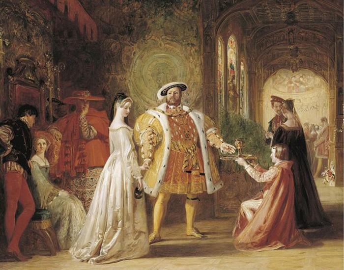 Первая встреча Генриха VIII и Анны Болейн, 1835 год. / Фото: Getty Images
