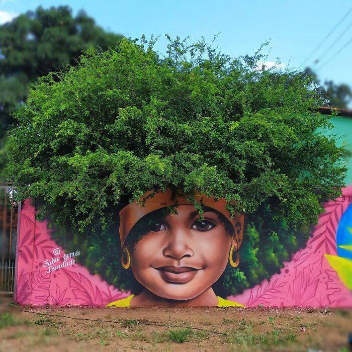 Прекрасные уличные картины невероятно быстро завоевали популярность в социальных сетях по всей Бразилии, а теперь распространяются по всему миру. / Фото: instagram.com/fabiogomestrindade