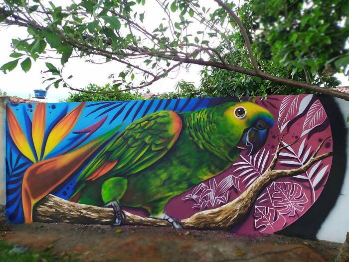 Удивительно подробные творческие полотна Фабио радуют глаз. / Фото: instagram.com/fabiogomestrindade
