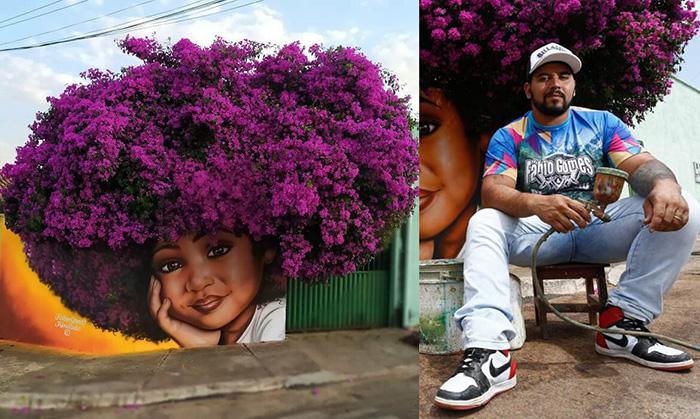 Уличный художник Фабио Гомеш Триндади создаёт настоящие произведения искусства на скучных стенах своего города.