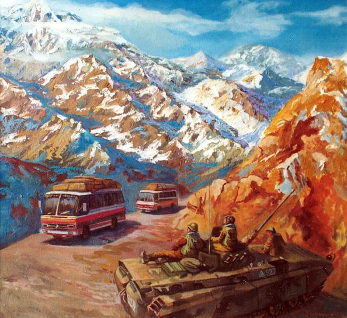 Афганский излом. Анатолий Хомутинников. / Фото: pinterest.ca