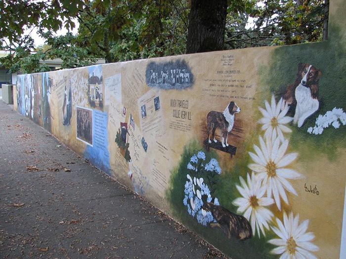 Фрески на одной из самых оживлённых улиц Сильвертона, посвящённые Бобби. Фото: Томас Шранц из Flickr.
