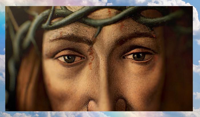 Фрагмент картины Сандро Боттичелли «Муж скорбей». Около 1500 года.