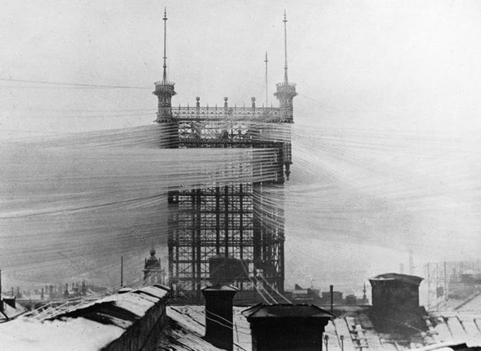 Стокгольмская телефонная башня, 1890-е годы. / Фото: Wikimedia Commons