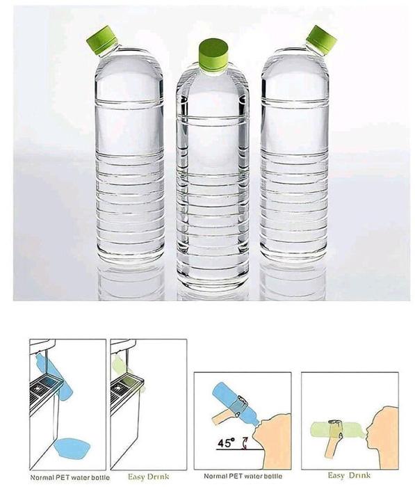 Горлышко бутылки находится под углом для лёгкого наполнения и питья. Фото: reddit.com
