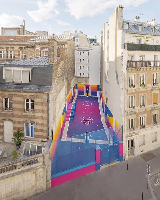 Баскетбольная площадка Pigalle, разработанная Ill Studio и Nike. Фото: reddit.com