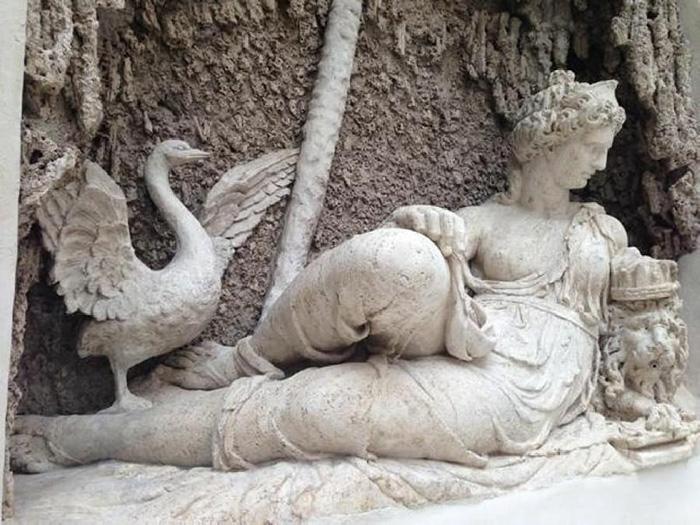 Рим, отреставрированный Quattro Fontane. Юнона и гусь. / Фото: ilgiornaledellarte.com