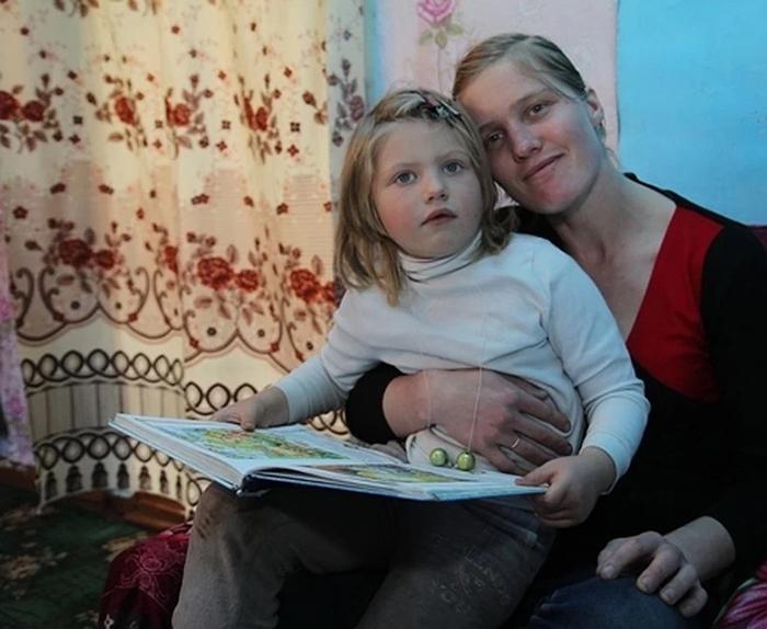 Оленья со своей доченькой.