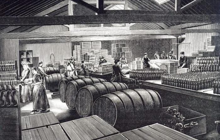 Гравюра с изображением завода по производству сока лайма. / Фото: Getty Images