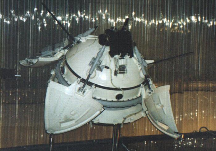 Макет спускаемого аппарата «Марс 3» в Мемориальном музее космонавтики в России. / Фото: amusingplanet.com