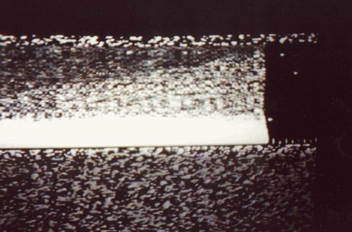 Единственное изображение, переданное посадочным модулем «Марс 3» до того, как он замолчал. / Фото: amusingplanet.com