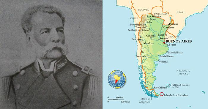 Коммодор Аугусто Лассерре и маяк «de Salvamento».