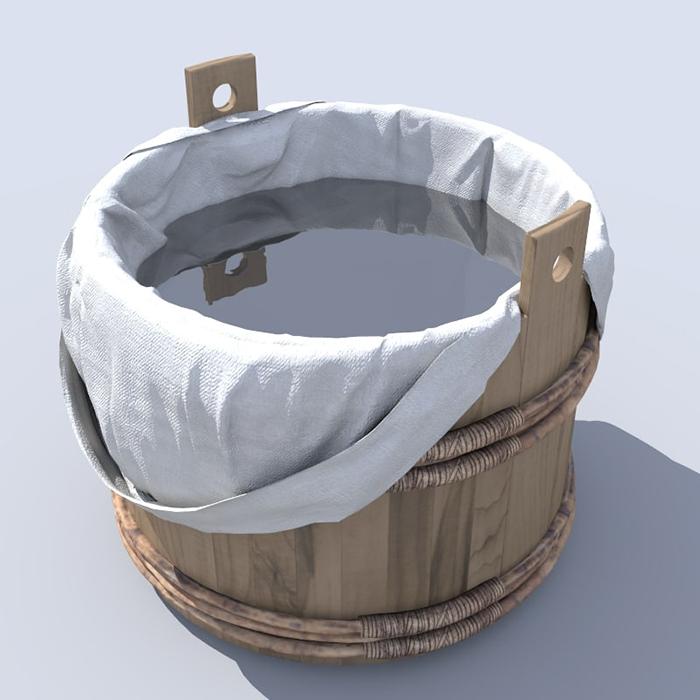 Бочка для купания. / Фото: turbosquid.com