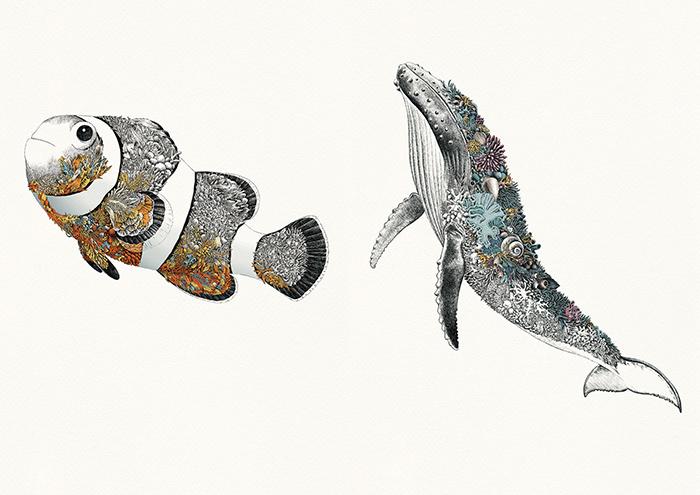 Серия работ в поддержку защиты Большого Барьерного рифа Австралии.