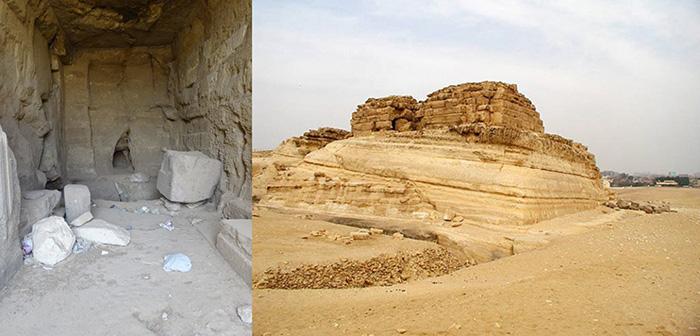 Ступенчатая пирамида Хенткавес I в Гизе.