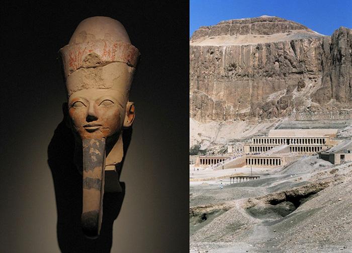 Храм царицы Хатшепсут, расположенный в Дейр-эль-Бахари.